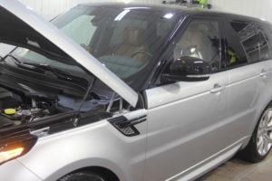 Range Rover sport, detailing warszawa, studio detailingu, polerowanie lakieru, powłoka ceramiczna, powłoka kwarcowa, diamond wash, studio detailingu