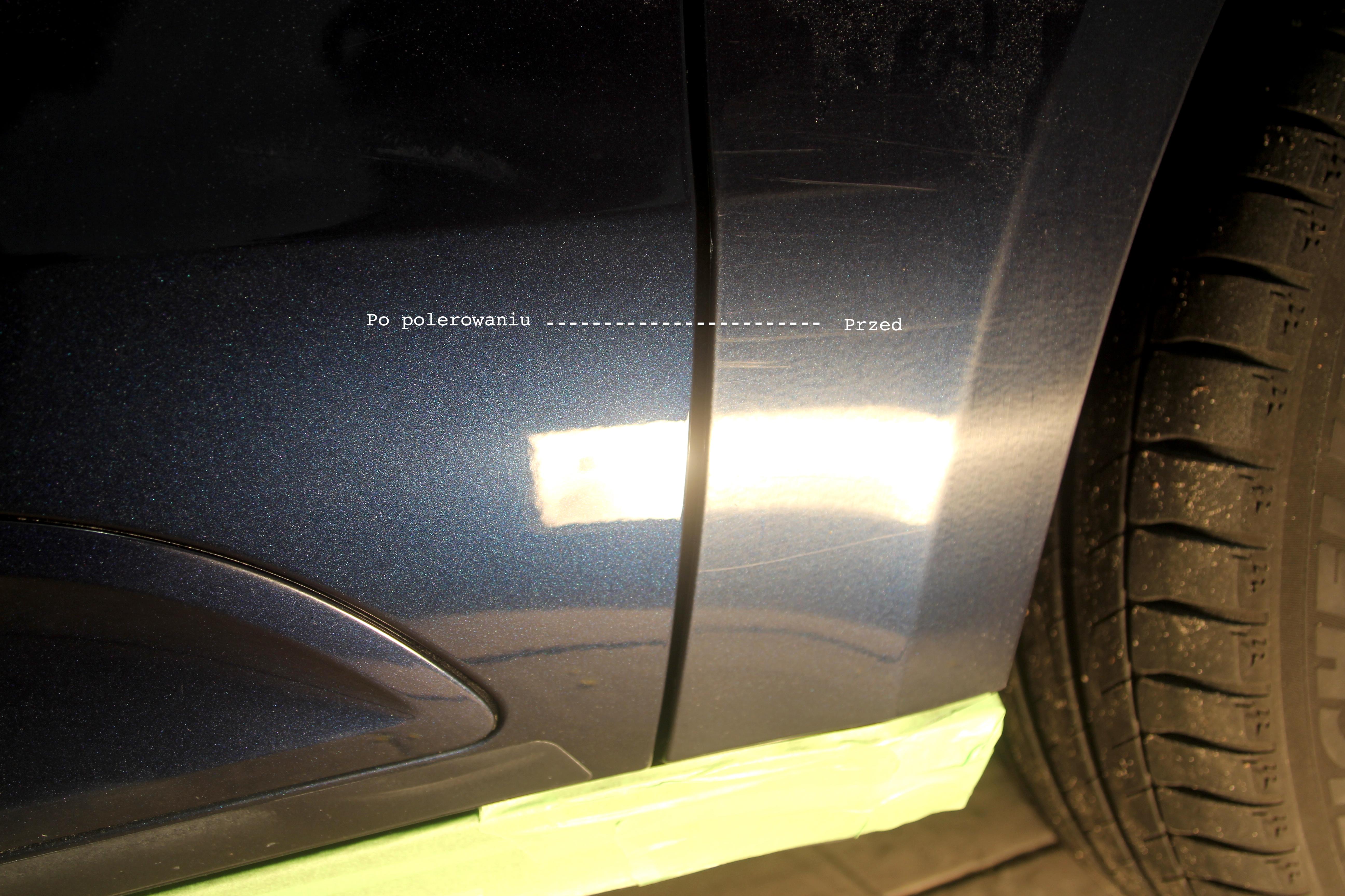 Porsche Macan rysy krzak
